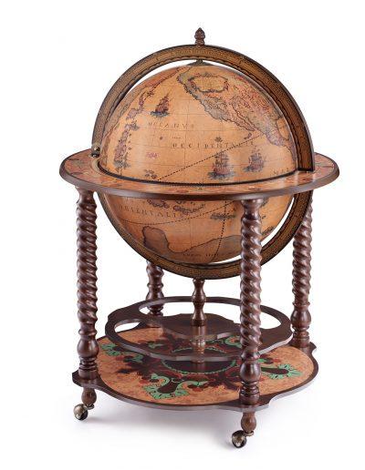 Product photo of the Noble Italian globe bar cabinet Bacco - closed