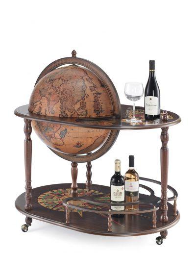 Product photo of the Artemide large globe bar cart - closed