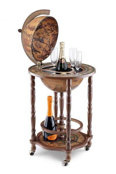Product photo of the modest Crono mini bar globe - classic, open