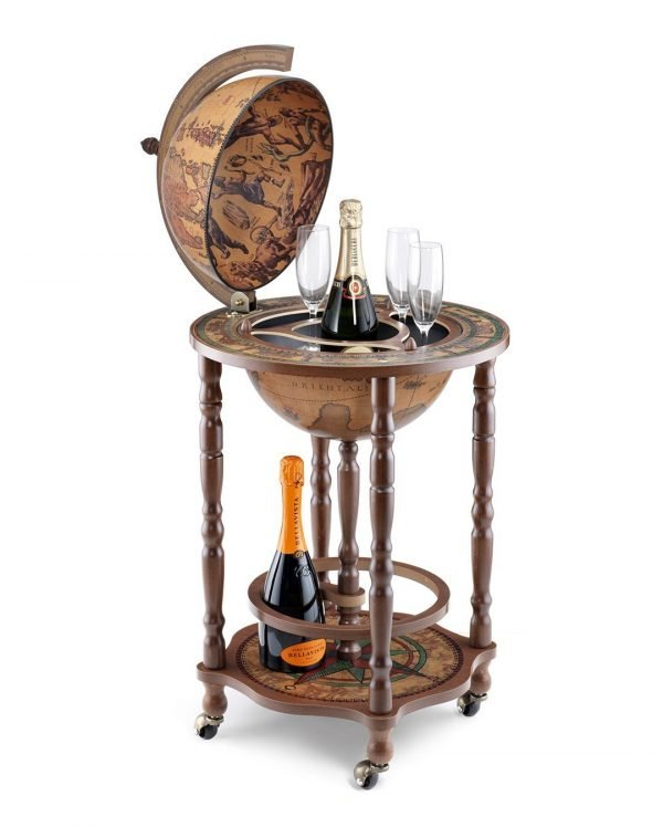 Product photo of the modest Crono mini bar globe - classic, open