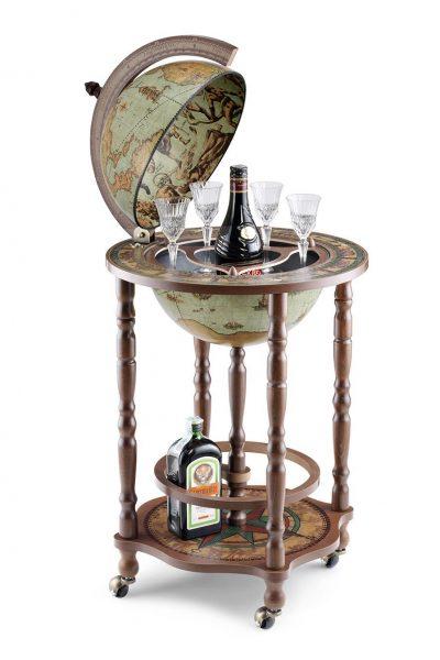 Product photo of the Modest Crono globe mini bar - laguna, open