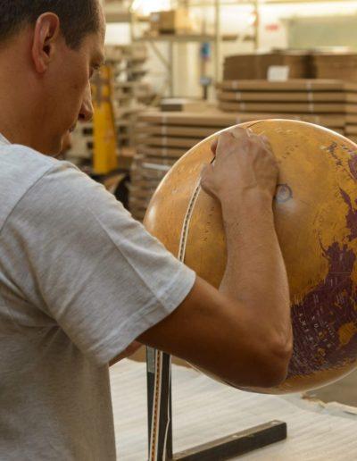 Studio photo of a Gea globe production process 2