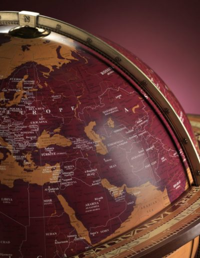 Studio photo of the Gea Aries extra large floor standing globe - close-up used in the Gea Globe Collections page