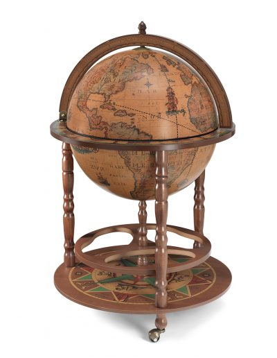 Product photo of the large globe drinks cabinet Calipso - classic, closed