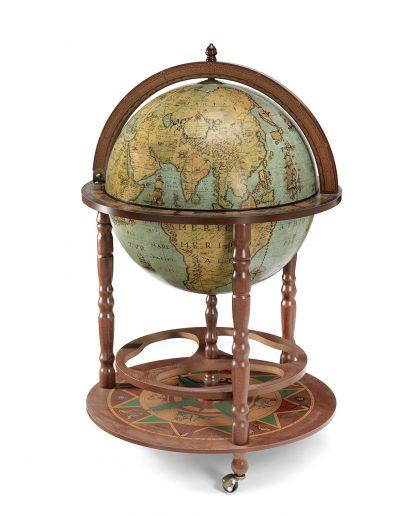 Product photo of the large globe liquor cabinet Calipso - laguna, closed