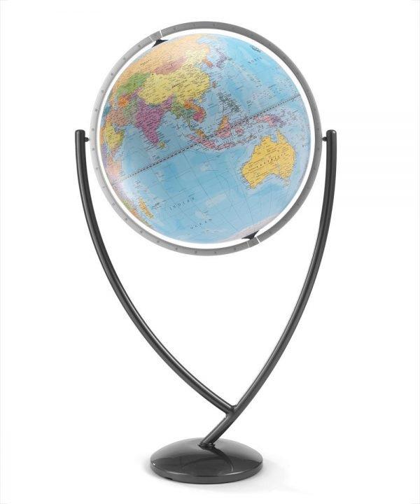 Colombo extra large Italian world globe product photo - light blue