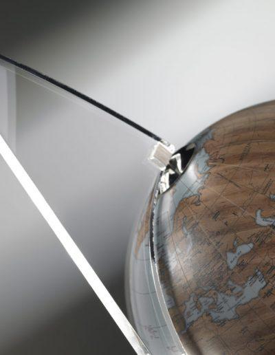 Studio photo for the Floating Vela small blue desk globe - sky blue