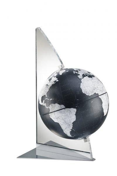 Studio photo for the Floating Vela small black globe
