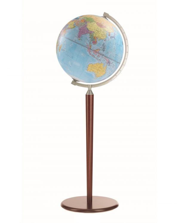 Product photo of the Vasco da Gama Blue World Globe on Sepia Floor Stand