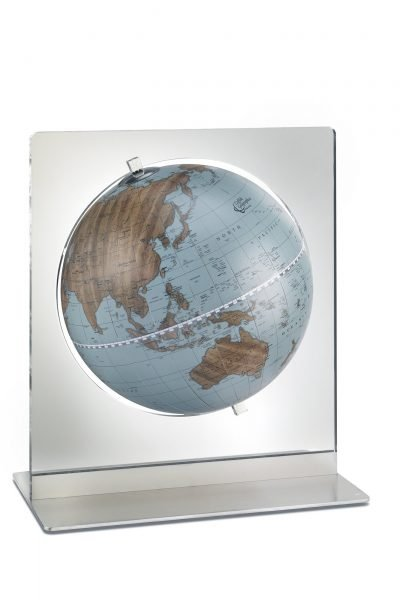 Product photo of the Italian Aria in Blue desk globe.