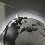 Studio photo of the Italian Aria in Black desk globe.