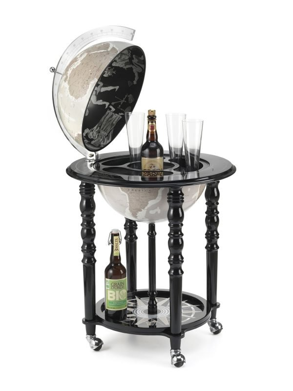 Product photo of the In Vogue Elegance Contemporary Globe Bar - black, open