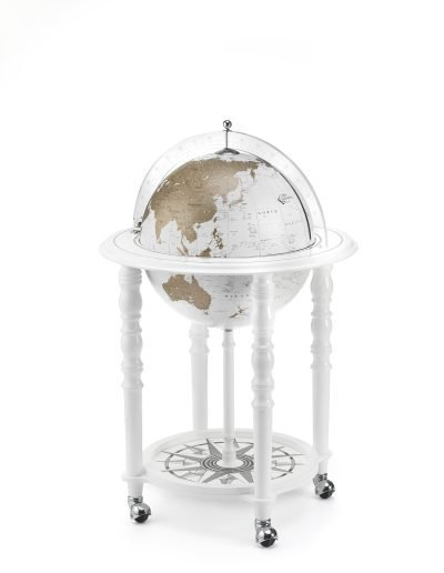 Product photo for the Globe Bar Sale of the In Vogue Elegance Contemporary Globe Bar - white, closed