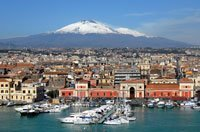 Photo of Catania for the Old World Globe Trolley Catania product page