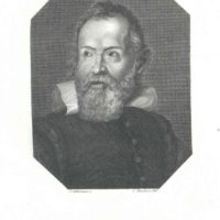 Portrait of Galileo for the Galileo Small Table Top Globe Bar product page