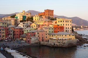 Photo of Genoa, Italy for the Genova Corner Cabinet Bar Globe product page