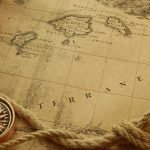 Photo of an Old World Nautical Map for the Old World Bar Globe on Tripod Stand product page