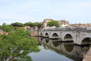 Photo of Rimini, Italy for the Rimini Bianco Nautical Map Bar Globe product page