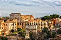 Photo of Rome, Italy for the Peg Leg Roma Old World Globe Bar product page