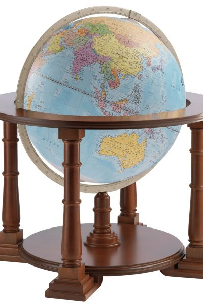 Product photo of the light blue political Mercatore World Globe Made in Italy