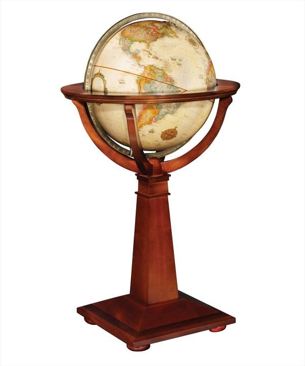 Product photo of The Logan Globe on an Inlaid Pedestal