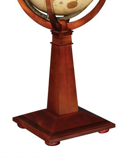 Product photo of The Logan Globe on an Inlaid Pedestal - pedestal close-up