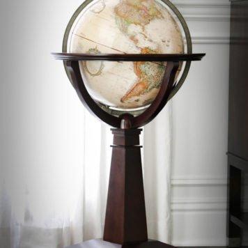 Customer photo of The Logan Globe on an Inlaid Pedestal