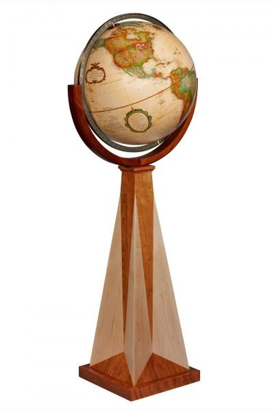 Product photo of the Obelisk Floor Globe by Replogle