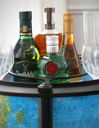 Product photo of the Empire | Illuminated Bar Globe - mini bar closeup