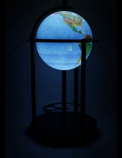 Product photo of the Empire | Illuminated Bar Globe - dark, illuminated
