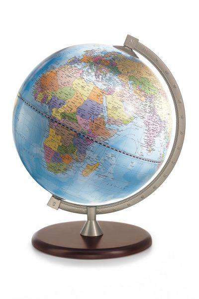 Product photo for the James Cook Desk Globe Made in Italy - blue