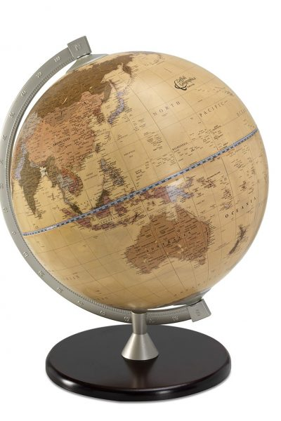 Product photo for the James Cook Globe of the World - apricot