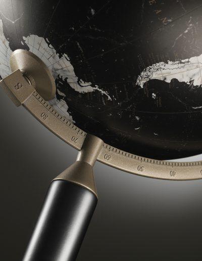 Studio photo of the black Vasco da Gama Globe
