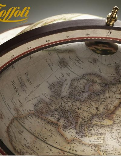 Studio photo of the Explora Floor Globe and Bar | Antique White - top