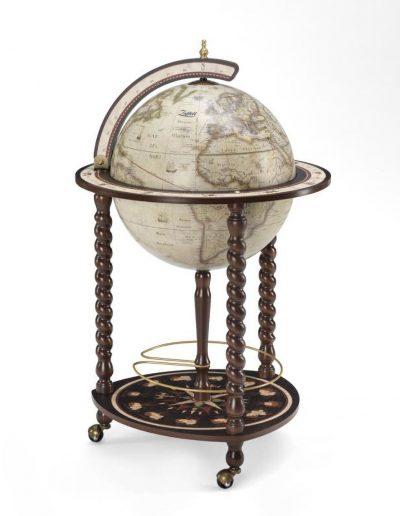 Catalog photo of the Explora Floor Globe and Bar | Antique White - closed