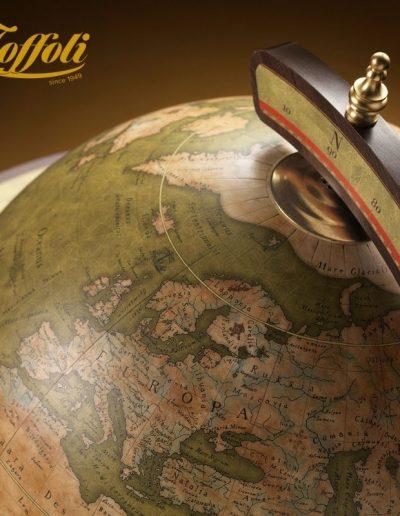 Exceptional Explora floor standing bar & globe - olive, closed, top studio photo