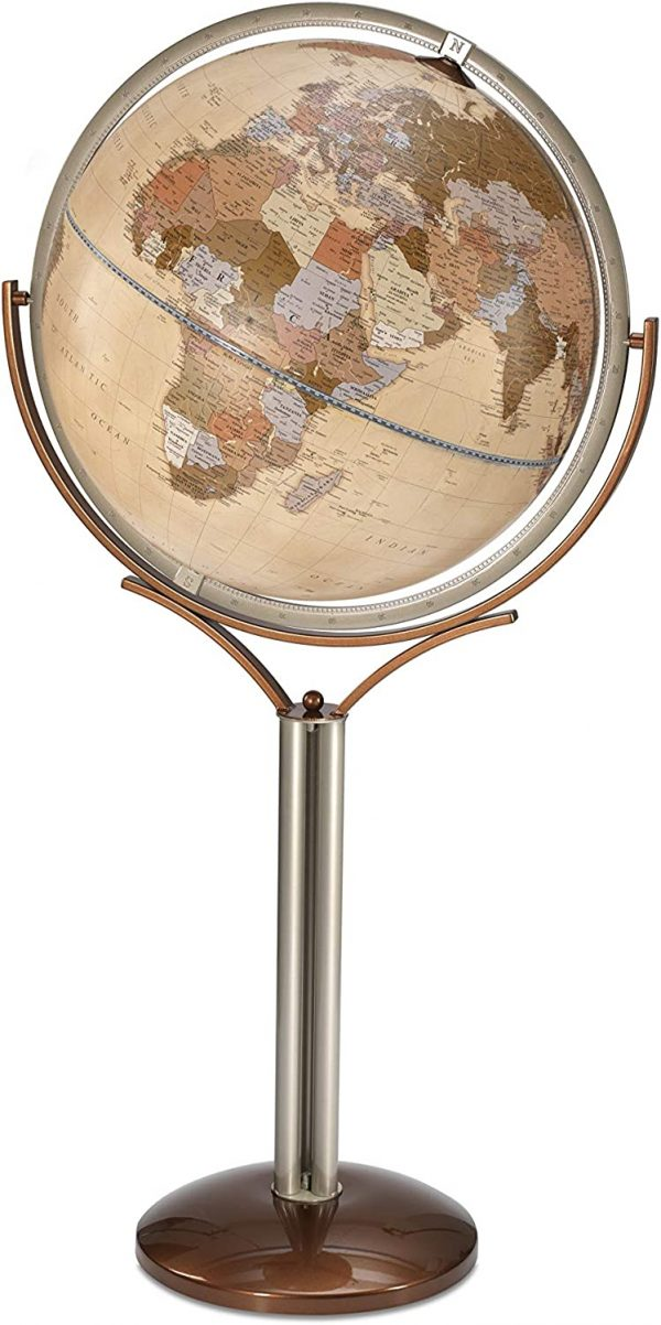 Product photo of the Magellano World Globe on Stand - Apricot