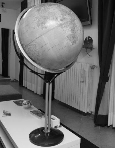 Black and White Customer photo of the Magellano World Globe on Stand
