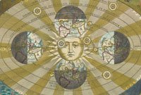 Image of Seasons by Cellarius who inspired the Explora floor standing bar & globe