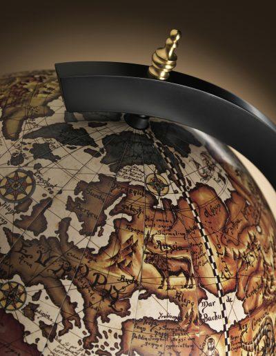 Black Globe Bar Vulcano top view closeup